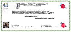 Reconocimientos 2014: Fátima Pacheco Distinción: Darcy Ribeiro