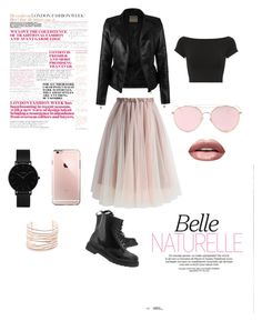 """""""Dangerous Woman"""" by fatespeaker on Polyvore featuring Chicwish, Helmut Lang, Dr. Martens, Huda Beauty, LMNT, Alexis Bittar and CLUSE"""