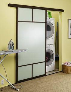Puerta japonesa corrediza para lavanderia