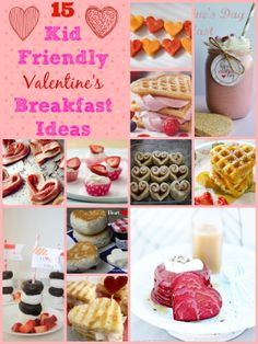 15 Kid Friendly Valentine's Breakfast Ideas