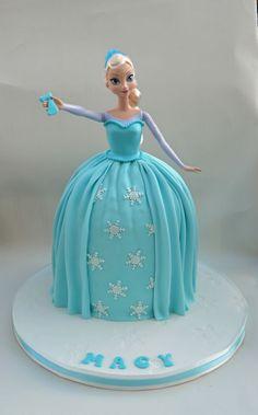 Frozen Elsa Doll Cake - CakesDecor
