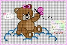Baby Cross Stitch Patterns, Crotchet Patterns, Cross Stitch Baby, Cross Stitch Alphabet, Cross Stitch Animals, Cross Stitch Charts, Cross Stitch Designs, Baby Patterns, Cross Stitching