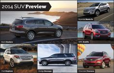 2014 SUV Preview - featuring @Chevrolet, @Dodge, @Mazda USA and @Toyota USA.
