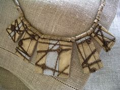 Polymer Clay faux stoneware necklace No2 | Flickr - Photo Sharing!