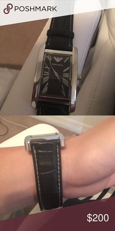 Like new emporio Armani watch It's like new has no scratches but needs new battery because hasn't been worn in so long . Accessories Watches