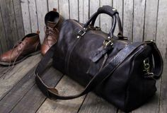 Handmade leather men Travel Duffle Bag Laptop Weekender Bag Overnight Bag vintage shoulder vintage bag