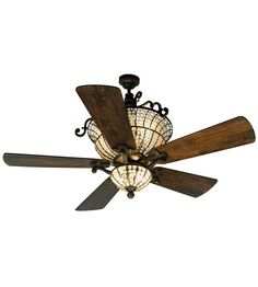 Craftmade K10659 Cortana 52 inch Peruvian Bronze with Hand-Scraped Walnut Blades Ceiling Fan With Blades Included in Solid Wood Blades, Premier #LightingNewYork