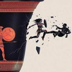 Wonder Woman By Doaly #WonderWoman #JusticeLeague #DCComics #Comic #Comics #ComicArt #Batman #Superman #Film #Movies #Fantasy #Scifi #Illustration #ConceptArt #Art #FanArt