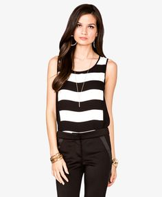 Striped Zippered Top $14.80 (Forever 21)