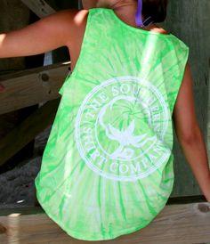 Tie Dye Tank Top - Tank Tops - Shop | The Southern Shirt Company MEDIUM IN JERRY BLUE