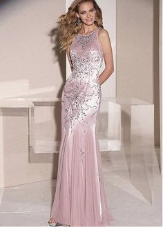 Buy discount Chic Tulle Jewel Neckline Floor-length Sheath Mother Of The Bride Dress at Magbridal.com