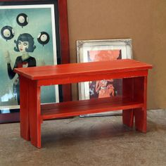 Handmade Sturdy Wooden Bench in Color of Your Choice - shipping included. $79.00, via Etsy.