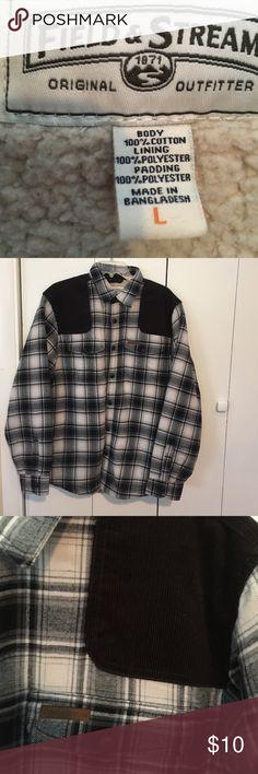 Men's Fleece Lined Shirt Jacket Warm cotton/poly Shirt Jacket Field and Stream Jackets & Coats Lightweight & Shirt Jackets