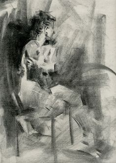 Heather Sitting by Jennifer McChristian Charcoal ~ 14 x 11