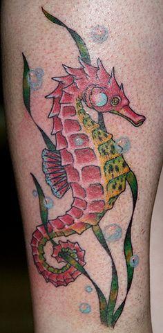 seahorse, beginning of leg sleeve