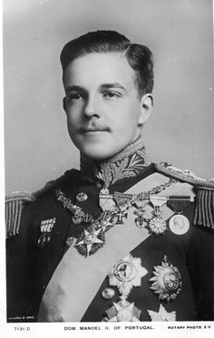King Manuel II of Portugal ascended the throne on Feb.1, 1908, following the assassination of his father, Carlos I, and his brother, Crown Prince Luis Filipe. He was voted out of office by the government of Spain in 1910 and spent the rest of his life in exile. Manuel married royally, his cousin Princess Augusta Victoria of Hohenzollern. Their marriage lasted nearly 20 years as he died at the relatively young age of 42. There were no children from this royal union.