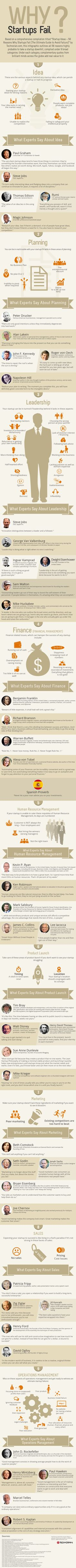 Why Startups Fail #Infographic