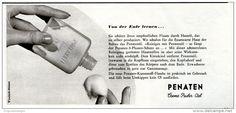 Original-Werbung/ Anzeige 1959 - PENATEN CREME - PUDER - ÖL -  ca. 150 x 65 mm