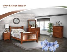 Grand Haven Mission Bedroom Set | Amish Traditions WV Large Dresser, Mission Furniture, Grand Haven, Drawer Unit, Room Dimensions, Bed Sizes, S Pic, White Oak, Amish