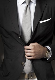 pocket square and watch