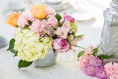 Light Pink Summer Blossoms - Joel and Amber Wedding Photography - See more on The Westchester Wedding Planner Blog
