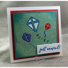 Serendipity Stamps Kites Reverse Die and Meow Mix Stamp set.