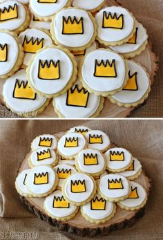 Crown-topped lemon sugar cookies are the perfect snack to go along with one of our favorite children's movies about an island of Wild Things!