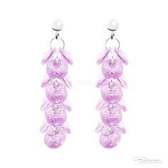 Kolczyki na srebrnych sztyftach z kryształami Rose - OK8.R - sklep internetowy Piotrowski