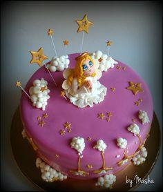 angel cake Christmas Tea, Christmas Angels, 1st Bday Cake, Angel Cake, Sugar Craft, Edible Art, Cute Cakes, Creative Cakes, Baby Shower Cakes