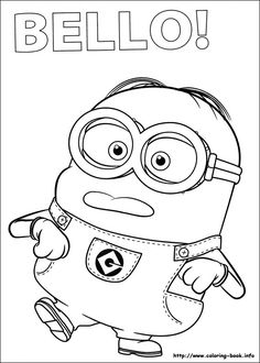 coloring page minions - Minion Coloring Pages Free