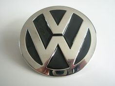 Vw Volkswagon Round Silver Black Emblem Belt Buckle - Belts and Buckles