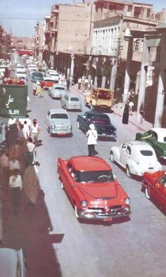 Baghdad, Al Rasheed Street in the Piano Photography, Baghdad Iraq, Bagdad, Arabic Art, Interesting Buildings, The Old Days, Historical Pictures, Beirut, North Africa