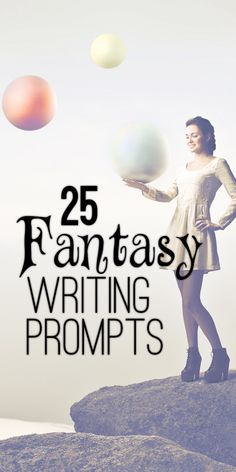 Get inspired with these fantasy writing prompts. Some of these are pretty good. I've thought of a few ideas my self after being inspired by one of these prompts.