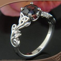 Wedding Jewelry Design Your Own Ring, Unique Engagement Rings and Wedding Bands, Custom Jewelry Celtic Leaf and Vine Mounting Unusual Wedding Rings, Celtic Wedding Rings, Unique Rings, Wedding Bands, Celtic Rings, Engagement Ring Photos, Engagement Jewelry, Vintage Engagement Rings, Wedding Jewelry