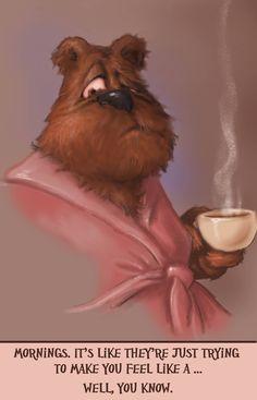 #morning #coffee #mondaymorning #bear #tired #sleepy