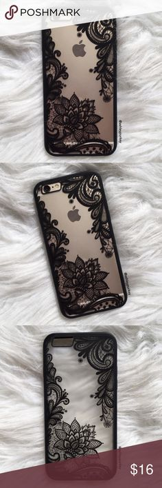 """❤️SALE❤️ matte black floral iPhone 6/6s phone case •iPhone 6/6s (4.7"""")  •hard plastic back, flexible silicone sides  •phone not included   •no trades    *please make sure you purchase the correct size case. i am not responsible if you purchase the wrong size  item #: 58 B-Long Boutique  Accessories Phone Cases"""