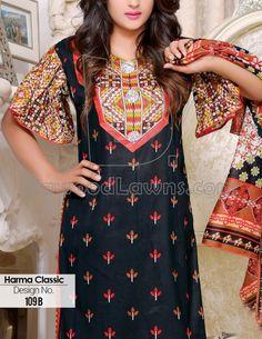 Buy Printed Cotton Lawn Salwar Kameez by Harma Classic Lawn Vol. 1, 2015.