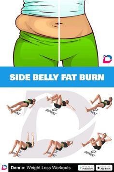 The most effective exercises to burn side fat and slim down your love handles lovehandles bellyfat fatburn demicapp burnfat weightlose fitness workout 644014815447485155 Gym Workout Tips, Fitness Workout For Women, Ab Workout At Home, Body Fitness, Fitness Workouts, Workout Challenge, Workout Videos, At Home Workouts, Workout Exercises
