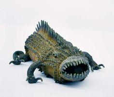 Untitled (c.2010) by Japanese outsider artist Shinichi Sawada (b.1987). Clay. via boumbang