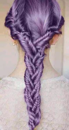 Lavender hair, purple braided hair. Is there a way to do this temporarily? The hubby would freak if I made it permanent.
