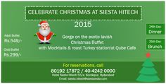 ‪#‎SIESTAHITECH‬ is glad to announce ‪#‎ChristmasEveningCelebrations‬ at ‪#‎QubeCafe‬ / ‪#‎HYDERABAD‬ http://www.hyderabadevents.com/event/Siesta-Hitech-is-glad-to-announce-Christmas-Eve-Celebration-at--Qube-Cafe-Hyderabad