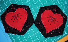 Embroidered hearts tablerunner tutorial Christine Baker - Fairfield Road Designs & Christine's Thrive Life
