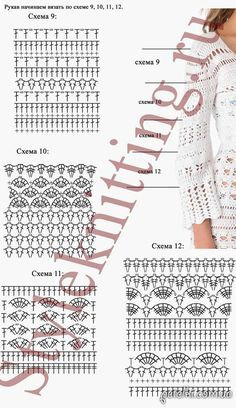Irish lace, crochet, crochet patterns, clothing and decorations for the house, crocheted. Crochet Beach Dress, Crochet Cardigan, Crochet Shawl, Irish Crochet, Crochet Lace, Christmas Dress Women, Crochet Diagram, Crochet Stitches Patterns, Diy Clothing