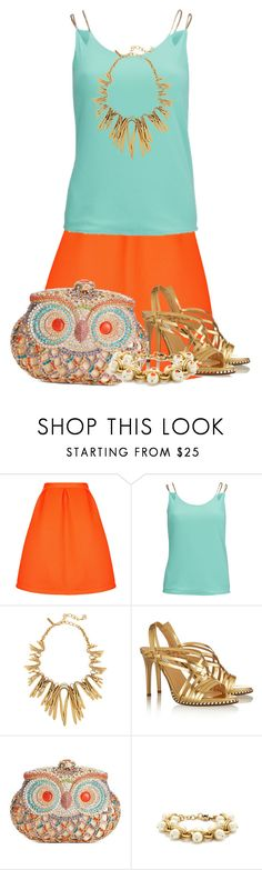"""Take the Jeweled Handbag Trend with you on your next Tropical Vacation!"" by lechara ❤ liked on Polyvore featuring Topshop, AX Paris, Oscar de la Renta, Diane Von Furstenberg, Sasha Handbags and J.Crew"