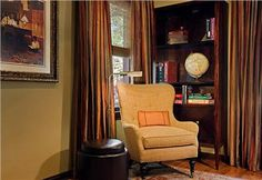 Formal Traditional Home Office by Laura Britt