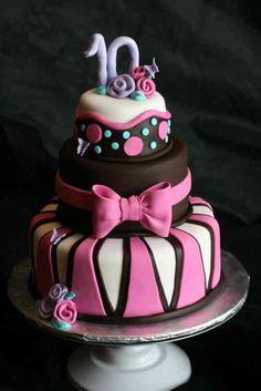 gâteau au chocolat pour anniversaire de fille de 10 ans