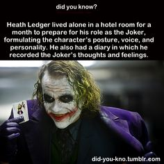 I love Heath Ledger...I cried when he died. He was just amazing.