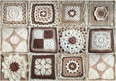 Afghan for Katelyn – Squares Collection with Joining Method [Free Pattern & Tutorial] Square Patterns, Hobby, Tutorial, Patience, Squares, Free Pattern, Workshop, Blanket, Crochet