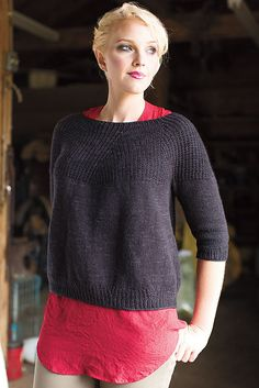 Ravelry: Coburn Pullover pattern by Bristol Ivy knit from the top down.