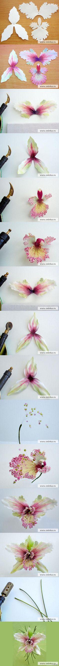 布花教程—兰花,木啥好说的,需要用到烫花器=。=